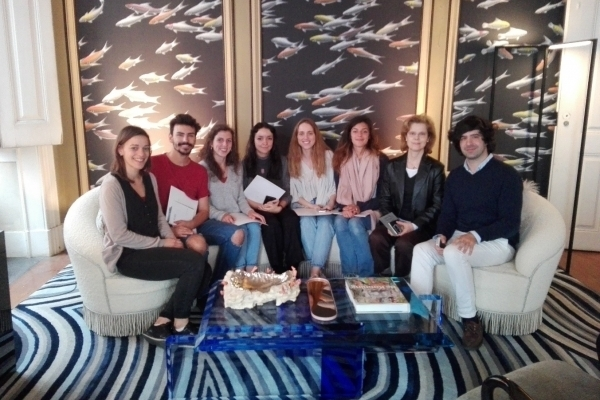 Visit of the Plastics class of the Faculty of Fine Arts